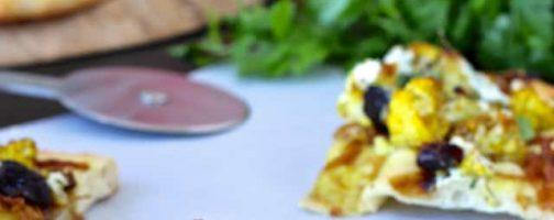 Spiced Cauliflower, California Prune and Caramelized Onion Flatbread
