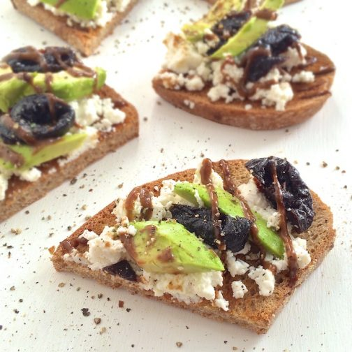 Prunes, Ricotta & Avocado Toast