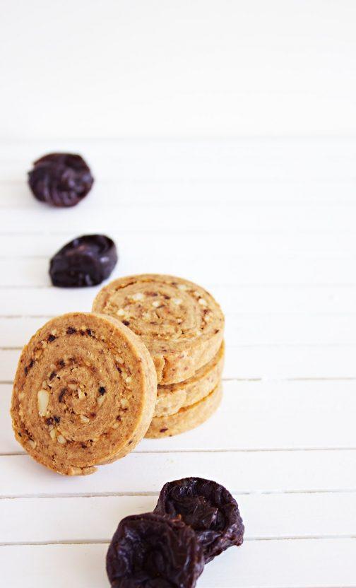 Almond, Orange & Prune Pinwheel Cookies