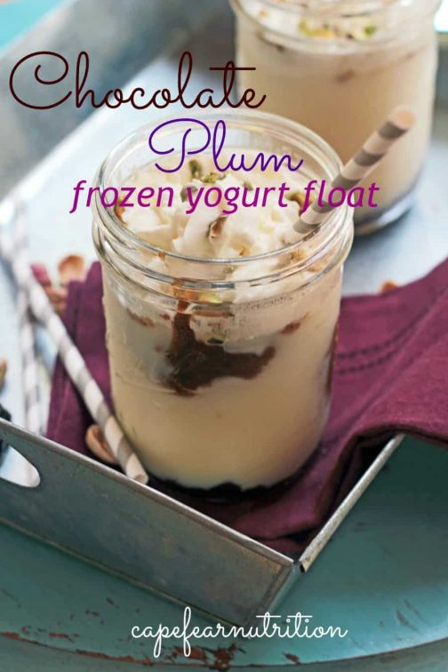 Chocolate Prune Frozen Yogurt Float