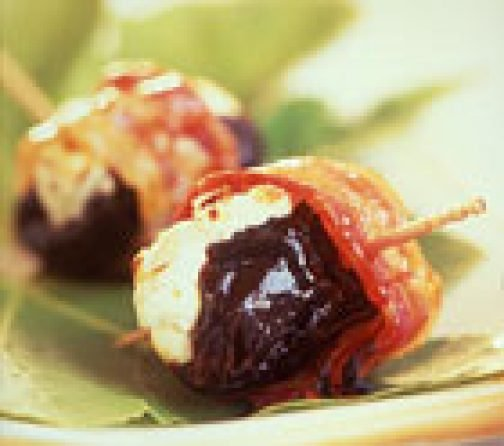 Prunes with Bacon and Fresh Goat Cheese