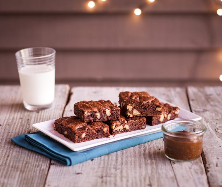 Moist and Fudgy Brownies with California Prunes