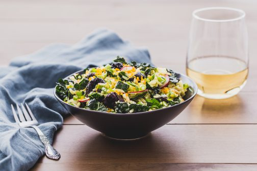 Citrus Kissed Rice and Kale Salad with California Prunes