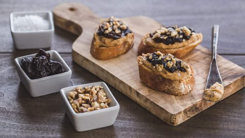 White Bean Crostini with California Prunes