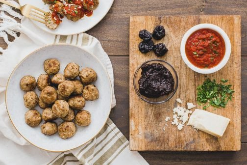 Prune Puree Turkey Meatballs