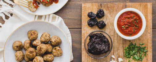 Prune Puree Turkey Meatballs