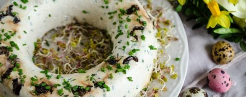 Smoked Cottage Cheese Terrine with California Prunes and Chives