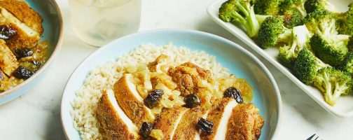 Chicken Curry with California Prunes and Brown Rice