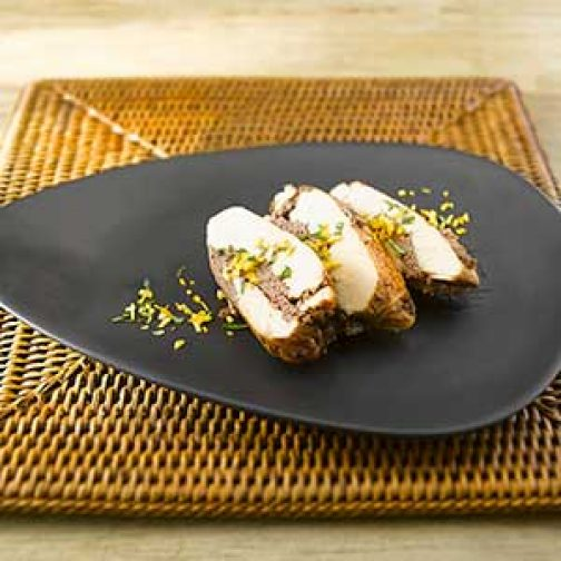 Chicken Thigh Cutlets Stuffed with Olive-and-Dried-Plum Tapenade