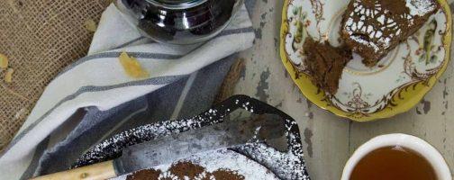 Ginger Prune Skillet Snack Cake