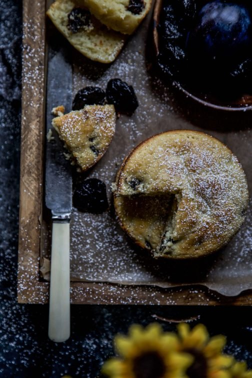 Mini Cardamom and Prune Ricotta Cakes