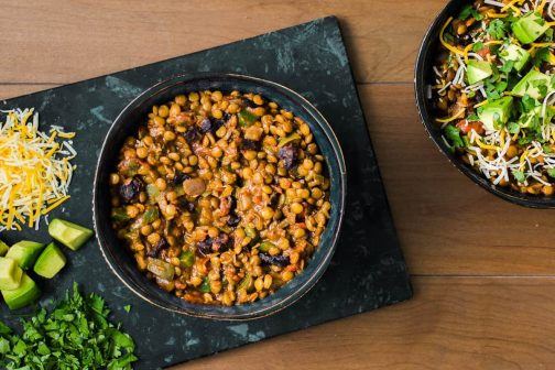 Spicy Lentil Chili with California Prunes