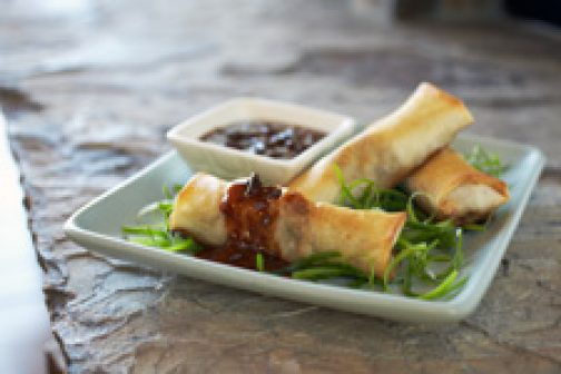Lumpia with Prune Purée