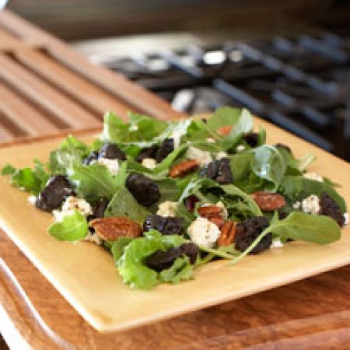 Mesclun Salad with California Prunes, Goat Cheese and Pecans