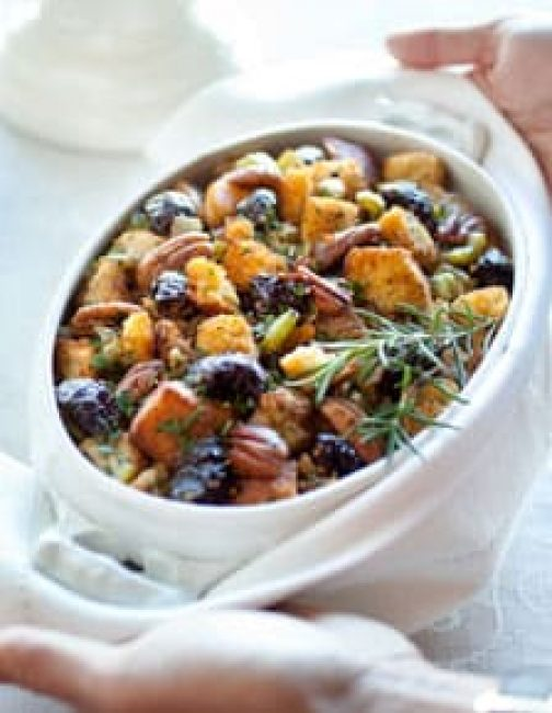 Holiday Dressing with Prunes and Cornbread