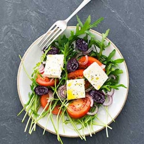 Prune, Tomato & Feta Salad