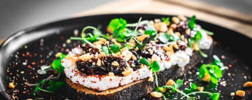 Ricotta Toast with California Prune Jam