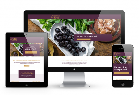 Website on screens image