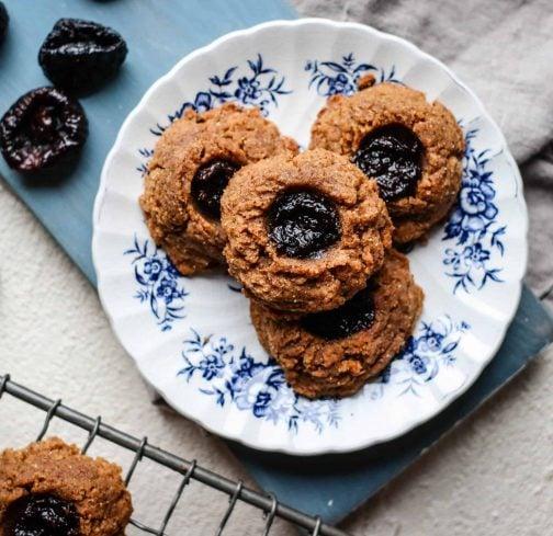 Almond & California Prune Thumbprint Cookies