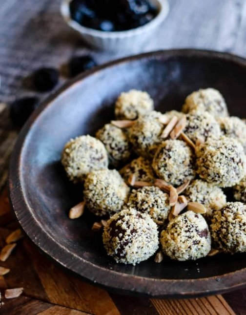 California Prune & Almond Truffles (Naturally Vegan + Gluten-Free)