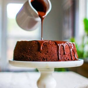 Chocolate Covered Prune Fudge Cake