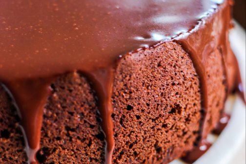 Chocolate Covered Prune Fudge Cake