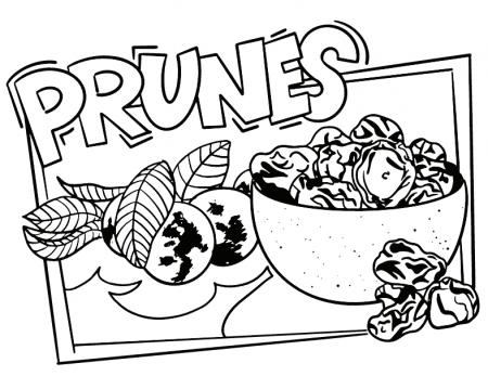 California Prunes Coloring Sheet
