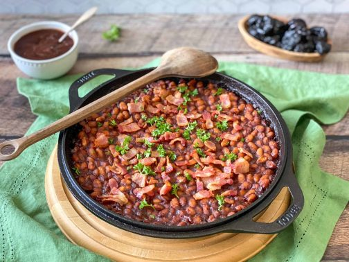 Naturally Sweetened Baked Beans Recipe with California Prune BBQ Sauce