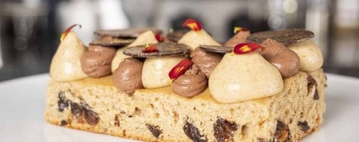 Spice Cake with Chocolate Mousse